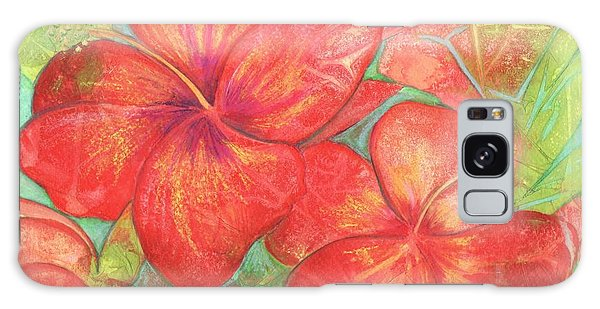 Two Hibiscus Blossoms Galaxy Case by Carla Parris