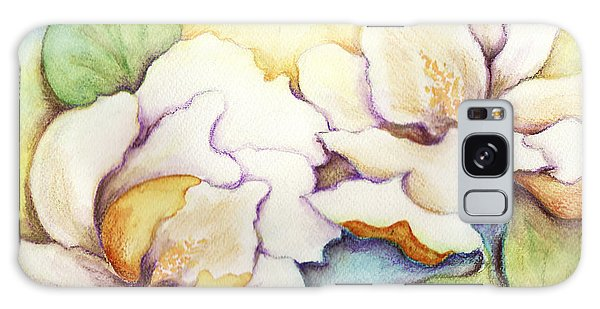 Two Magnolia Blossoms Galaxy Case by Carla Parris