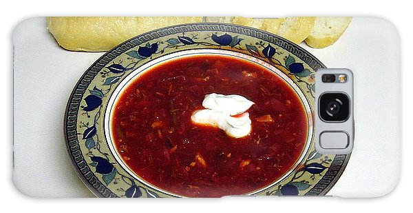 Ukrainian Borsch With Sour Cream Galaxy Case by Jim Sauchyn