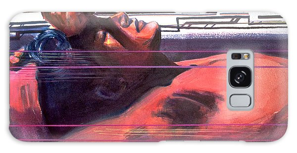 Galaxy Case featuring the painting Under Lying Currents by Rene Capone