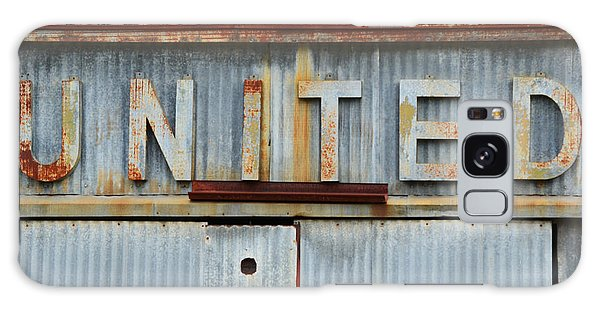 Rustic Galaxy Case - United Rusted Metal Sign by Nikki Marie Smith