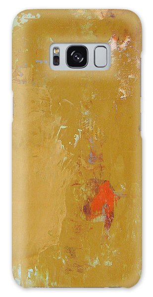Untitled Abstract - Ochre Cinnabar Galaxy Case