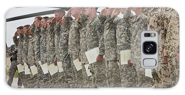 Paper Dress Galaxy Case - U.s. Army Soldiers And Recipients by Terry Moore