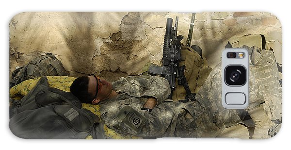 Minotaur Galaxy Case - U.s. Army Specialist Takes A Nap by Stocktrek Images