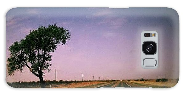 Follow Galaxy Case - #usa #america #road #tree #sky by Torbjorn Schei