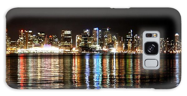 Vancouver Skyline At Night Galaxy Case by JM Photography