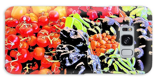 Vegetables On Display Galaxy Case by Kym Backland