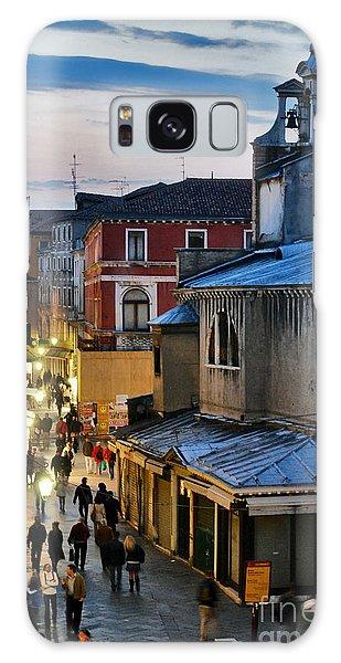 Venice From Ponte Di Rialto Galaxy Case