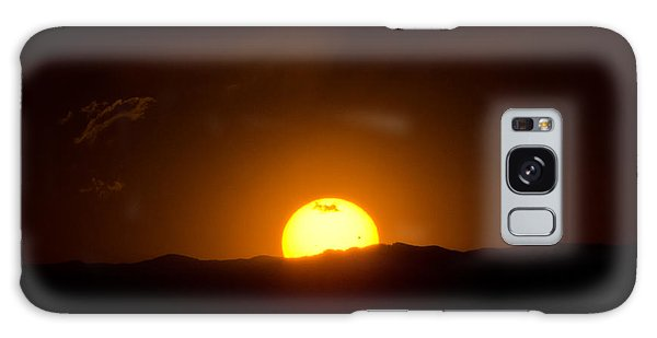 Venus Transit Setting Over The Rocky Mountains Galaxy Case