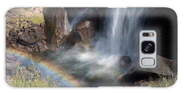 Vernal Falls Rainbow On Mist Trail Yosemite Np Galaxy Case