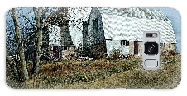 Victoria County Road Barn Galaxy Case