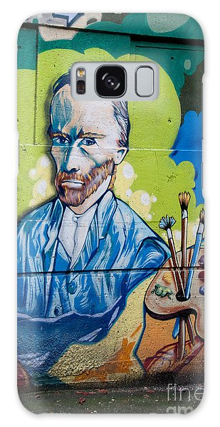Vincent On The Wall Galaxy Case by Carol Ailles