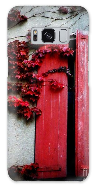 Vines On Red Shutters Galaxy Case