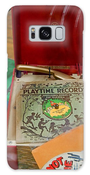 Vintage 45 Record Player And Record Albums Galaxy Case by Valerie Garner