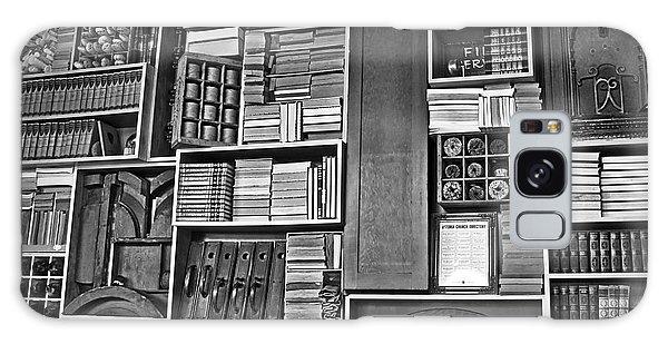 Vintage Bookcase Art Prints Galaxy Case by Valerie Garner