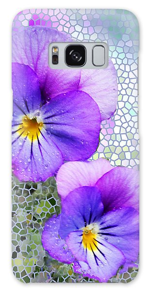 Viola On Glass Galaxy Case