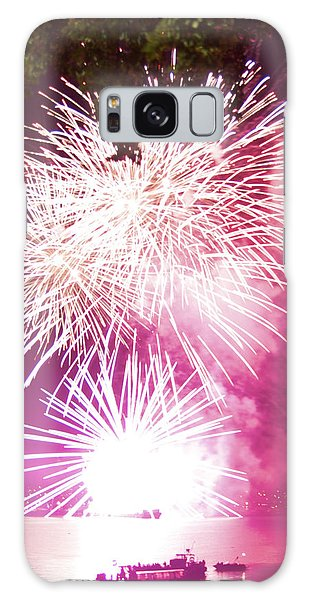 Violet Explosion Galaxy Case by JM Photography