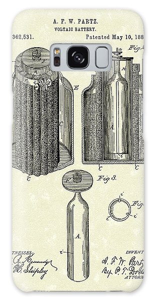 Voltaic Battery 1887 Patent Art Galaxy Case