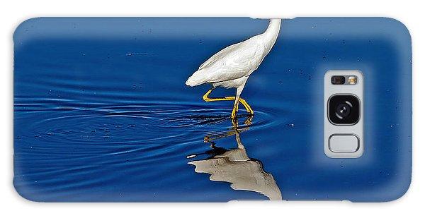 Walking Egret Galaxy Case
