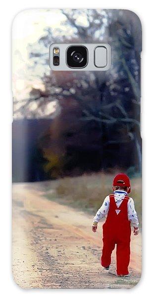 Walking On Pawpaw's Road Galaxy Case
