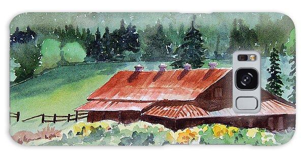 Washington Barn Galaxy Case by Christine Lathrop