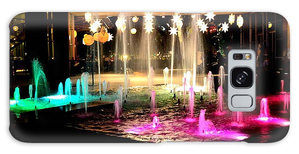 Water Fountain With Stars And Blue Green With Pink Lights Galaxy Case