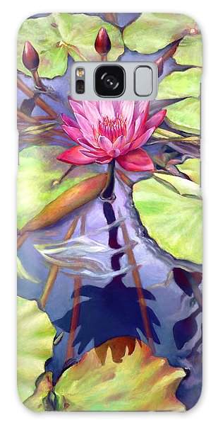 Water Lilies In The Center Of Their Universe Galaxy Case by Nancy Tilles
