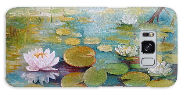 Water Lilies On The Pond Galaxy Case