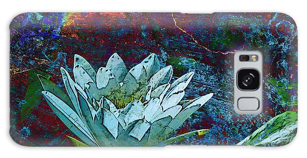Water Lily Abstract Galaxy Case by Phyllis Denton