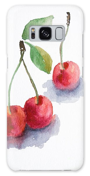 Watercolor Cherry  Galaxy Case