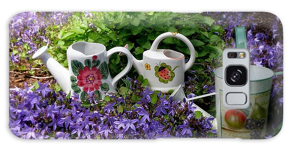 Watering Cans And Campanula Galaxy Case
