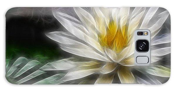 Waterlily In Pseudo-fractal Galaxy Case by Lynne Jenkins