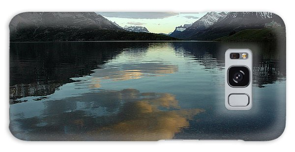 Waterton Lake Sunset Canada Galaxy Case by Vivian Christopher