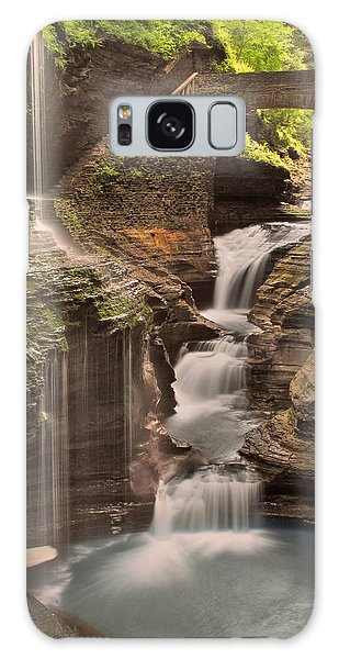 Watkins Glen Gorge Galaxy Case by Cindy Haggerty