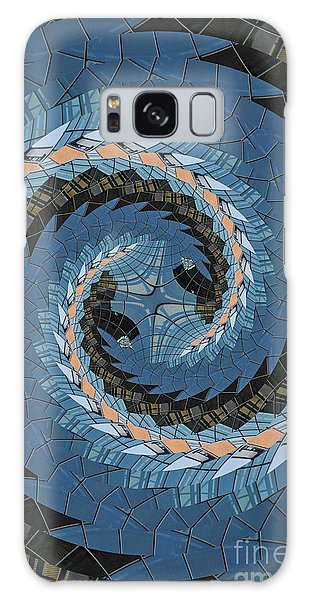 Wave Mosaic. Galaxy Case by Clare Bambers