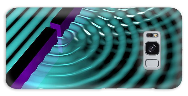 Galaxy Case featuring the digital art Waves Two Slit 3 by Russell Kightley