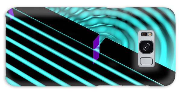 Galaxy Case featuring the digital art Waves Two Slit 4 by Russell Kightley