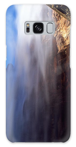 Weeping Rock Waterfall Galaxy Case