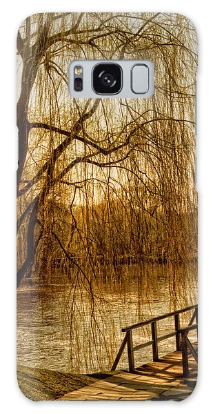 Weeping Willow And Bridge Galaxy Case
