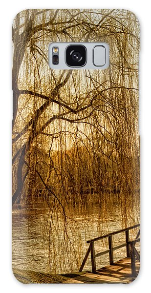 Weeping Willow And Bridge Galaxy Case by Barbara Middleton