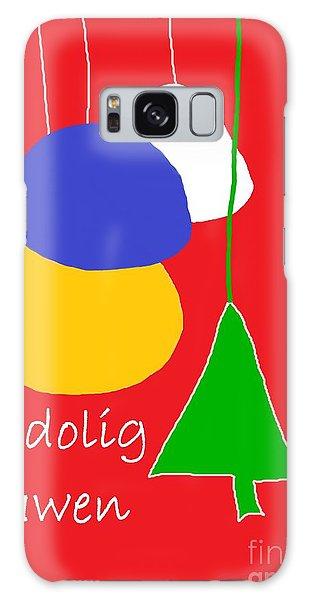 Welsh Christmas Card Galaxy Case by Barbara Moignard