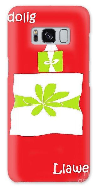 Welsh Merry Christmas Red Galaxy Case by Barbara Moignard