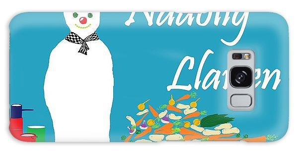 Welsh Snowman Chef Galaxy Case by Barbara Moignard