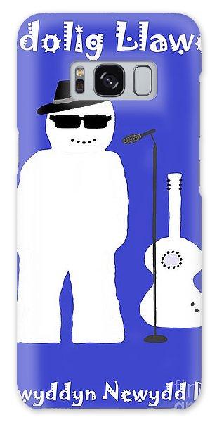 Welsh Snowman Musician Galaxy Case by Barbara Moignard