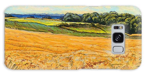 Wheat Field In Limburg Galaxy Case