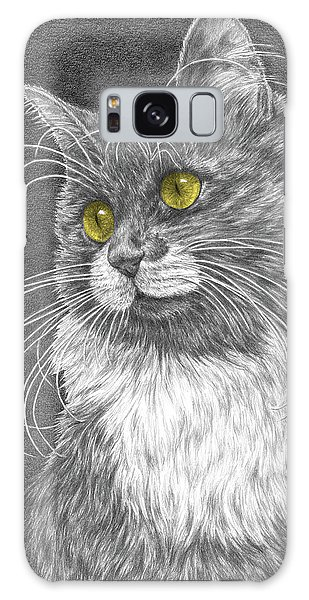 Whiskers - Color Tinted Art Print Galaxy Case by Kelli Swan