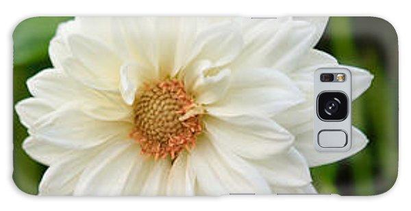 White Dahlia Galaxy Case by Ann Murphy