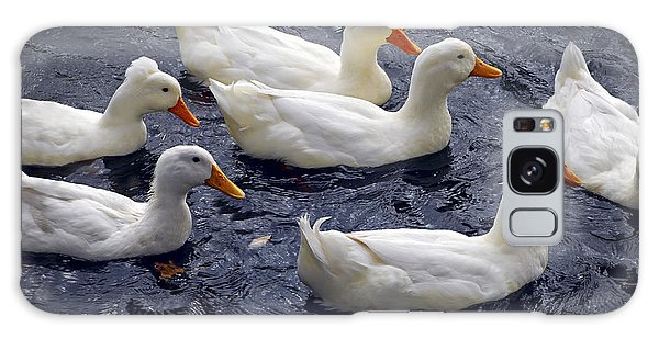 White Ducks Galaxy Case