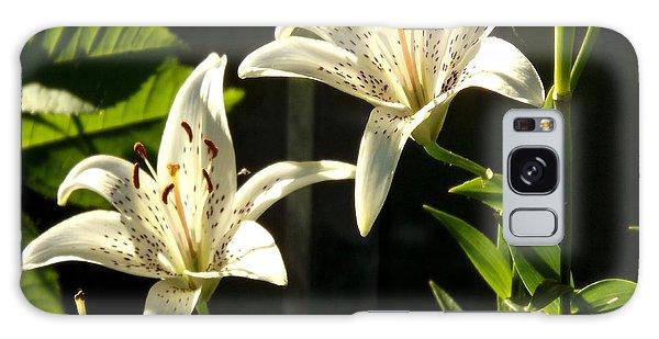 White Lillies Galaxy Case