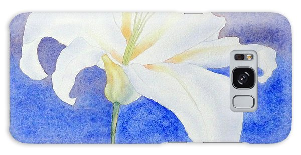 White Lily Galaxy Case
